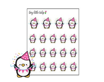 Planner Stickers Penguin Celebrate