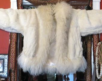 Stunning Rabbit/Mongolian Evans Fur Jacket/Coat