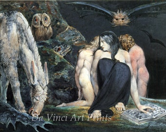The Color Prints of William Blake. Hecate, c.1795. Fine Art Reproduction.