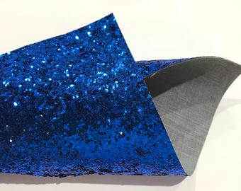 Royal Blue Glitter Fabric Sheet 0.7mm Thick