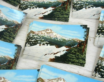 Mt Bachelor Oregon Postcards | South Sister Cascade Mountains | Bend Oregon Souvenir | Save the Date Cards | Photochrom