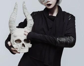Asymmetric black coat, extravagant cotton jacket, gothic clothing, faux leather, long coat, industrial style, modern cloak, futuristic