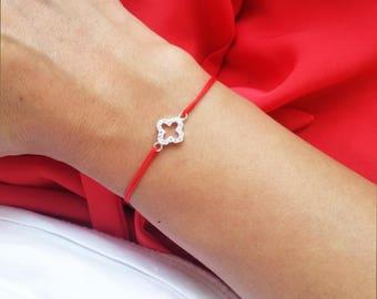 Cross Bracelet Faith Bracelet Sterling Silver Cross Red String Bracelet Minimalist Jewelry Protection Bracelet Swarovski Cross