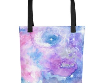 Watercolor Galaxy Tote
