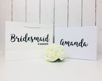 Bridesmaid Gift Bag and Box | Bridesmaid Gift Bag | Bridesmaid Box | Will You Be My Bridesmaid | Wedding Gift Bag | Thank You Gift| Gift Bag