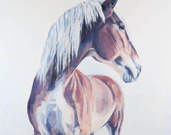 Horse Art, Horse Painting, Wall Art, Draft Horse, Equine Art
