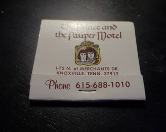 The Prince and Pauper Motel Knoxville, TN Matchbook (Unused)