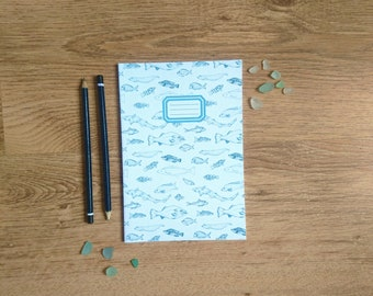 Cornish Fish    A5 Lined Notebook