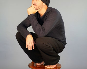Men's Yoga Pants - Lounge  Pants - Eco Friendly - Organic Clothing - Black Pants