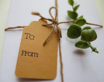 To & From Gift Tags //