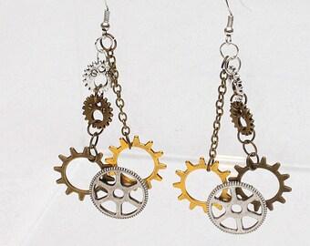 Steampunk Gear Earrings Steam Punk Ear rings