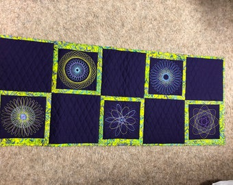 Spirograph Table Runner