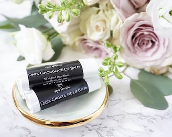 Dark Chocolate Lip Balm Bath and Body Products | Spa Products | Lip Care | Chapped Lips | Soothing | Natural