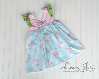 Toddler Girl Dresses,Clothes for Baby, Girls Spring Dresses,Toddler Girl Outfits,Little Girls Cute Dresses,Girl Floral Dresses,Girls Flutter