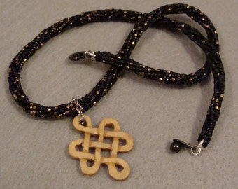 Celtic Knot on Herringbone Necklace