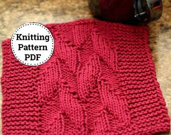 Knitting Pattern | Dishcloth Pattern | Knitted Dishcloth | Down Stream
