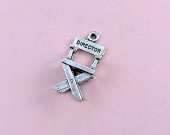 Vintage Universal Studios Charm, Sterling Silver Bracelet Charm, Directors Chair Charm, Universal Studios California Travel Keepsake Memory