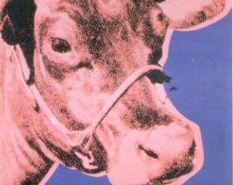 Andy Warhol Cow, 1976 (pink & purple)