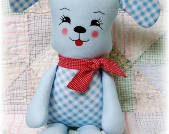 Puppy Dog PATTERN, PDF sewing pattern, Stuffed Animal, Softie, Soft Toy, Plush, Rag Doll Pattern