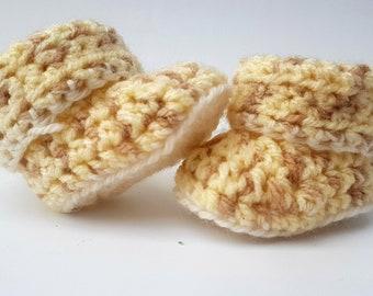 Beige Baby Crochet Booties