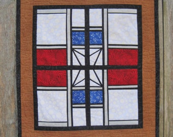 My Kitchen Window, a stained glass wall hanging to paper piece PDF
