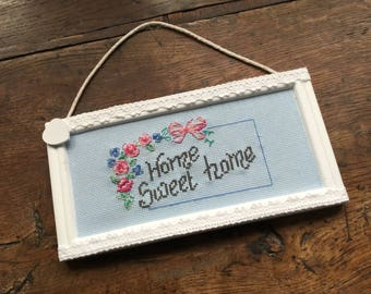 Home Sweet Home decor flowers banner