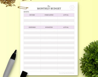 The Monthly Budget Tracker - Single Insert - The Ultimate Planner
