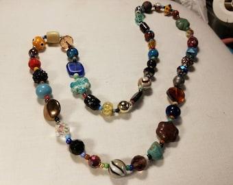 Chunky beaded necklace