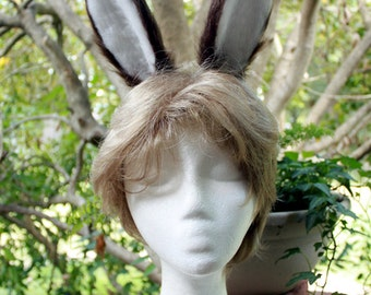 Brown Bunny Ear Headband