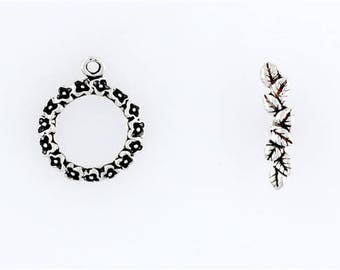 Sterling Silver Floral Toggle Clasp