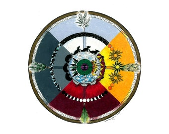 Medicine Wheel Archival Quality Print 12''x12''