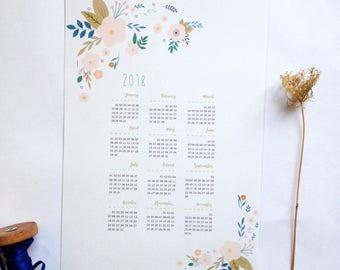 Calendrier 2018, calendrier mural 2018, calendrier fichier numérique PDF, calendrier à imprimer, calendrier 2018 à télécharger