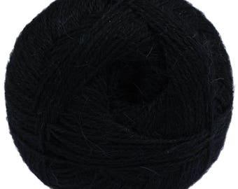 Dark blue Yarn - 100% Alpaca - Fine - 100 gr./ 400 yd.