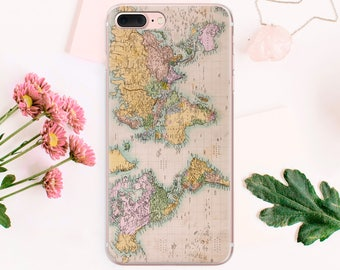 World Map iPhone 8 Case SE Phone Cover iPhone X Phone iPhone Case 6 Plus iPhone Case Phone iPhone 6s iPhone 7 Plus Case iPhone Phone CA1022