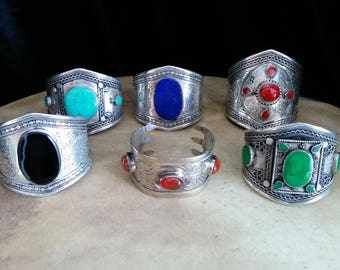 Bulk Lot 6 Tribal Bracelets Central Asian Jewelry Resale Vending Gifts Haflas Mixed Styles and Colors