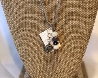 Diffuser clay pendants necklace