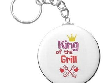 Smokey BBQ Scented King Of The Grill Key Chain For Dad