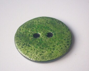 Large button handmade 4 cm - polymer clay