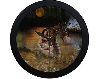 Demon Rider Fantasy Art Clock