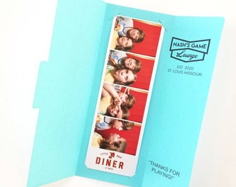 Retro Photo Booth Folder - Customized For Your Event - Name And Color