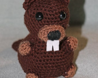 Beaver - Handmade Amigurumi Crochet Beaver