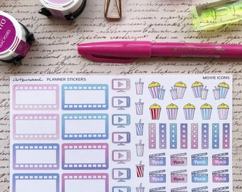 Movie Icons Artsunami Functional Planner Journaling Scrapbooking Stickers