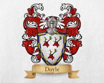 Doyle Family Crest - Print