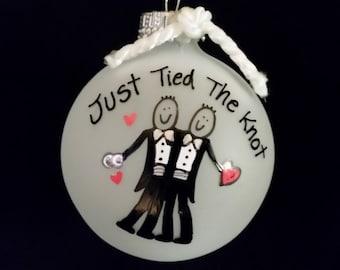 Gay wedding ornament, gay wedding gift,Mr and Mr,two grooms,gay wedding gift,gay gift, two men, gift for gay marriage,wedding