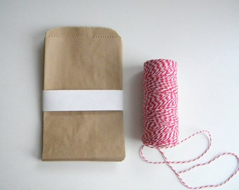 150 Kraft Paper Bags, 4 x 6 Inches, Wedding Favor Bags, Candy Buffet Bag