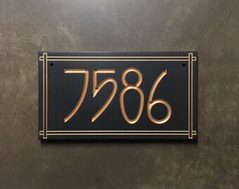 Stickley Style Address Sign