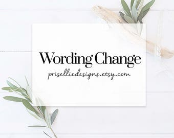 Wording Changes to One Standard Item | PrisellieDesigns