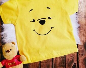 Winnie The Pooh Shirt Birthday Holidays Kids