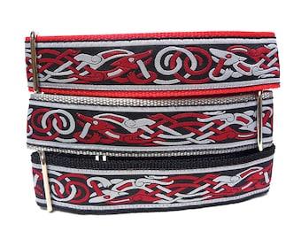 Martingale, Dog Collar, CELTIC DOG, Egyptian dog, red martingale, Safety Collar, Greyhound Collar, Sighthound Collar, Adjustable, Celtic
