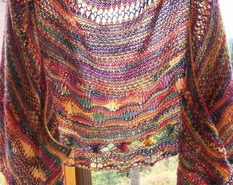 Crayola Rainbow Lace Shawl